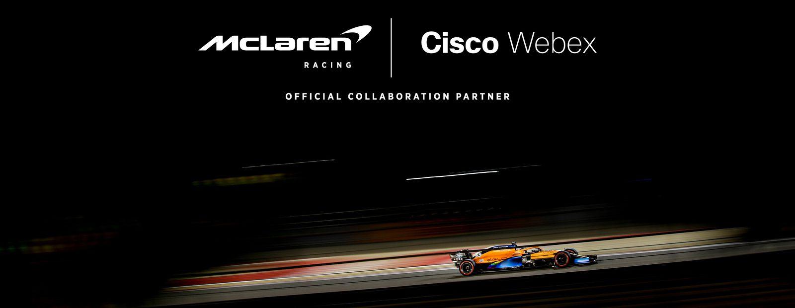 Cisco Webex è Official Collaboration Partner del team McLaren di Formula 1