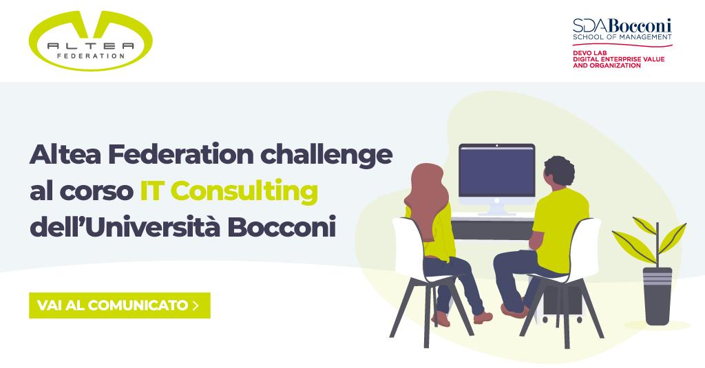 Altea Federation challenge al corso IT Consulting dell'Università Bocconi