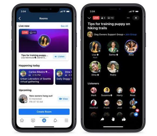 Facebook Live Audio Rooms è disponibile negli Usa
