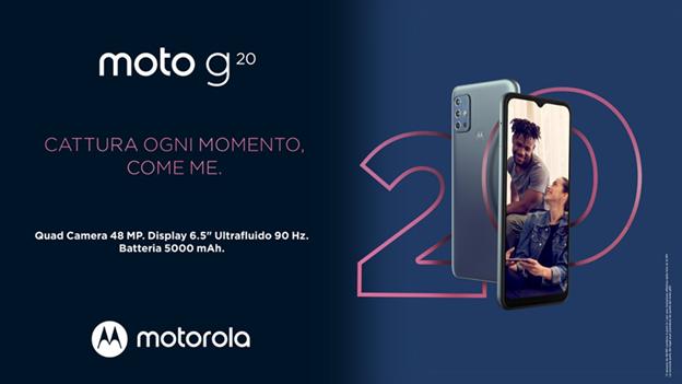 Motorola annuncia il nuovo moto g20
