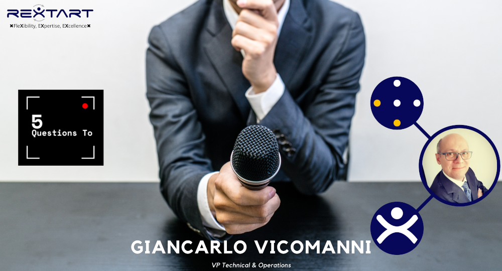 Five Questions To: Giancarlo Vicomanni VP Technical & Operations Rextart