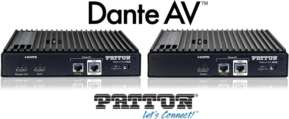 Patton presenta la prima serie di prodotti basata sul modulo Dante AV di Audinate