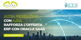 Altea Federation con A.B.S. rafforza l'offerta ERP con Oracle SaaS