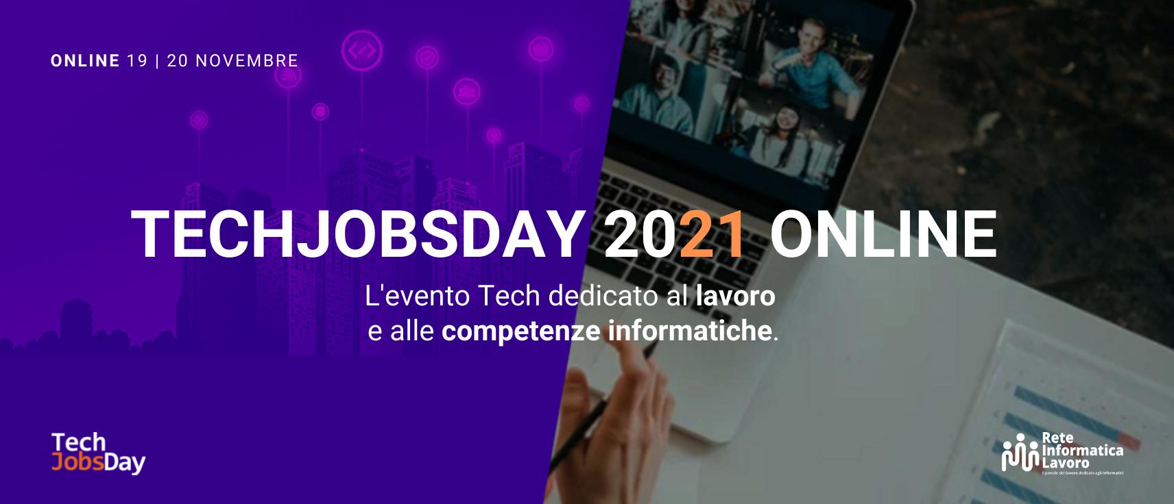Torna il TechJobsDay, il career day online di riferimento per il settore informatico