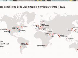 La presenza Cloud di Oracle si espande a livello mondiale a un passo di crescita a tre cifre